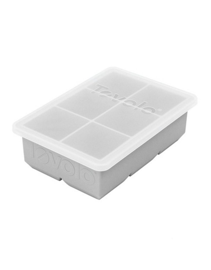 Tovolo King Ice Cube With Lid, Oyster Gray
