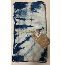 Hand-Dyed Indigo Placemat, Tie-Dye Blue Shibori-Set of 4
