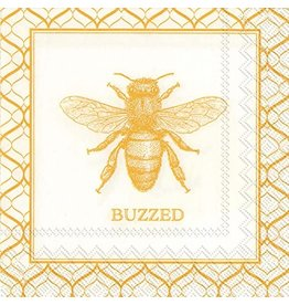 Boston International Cocktail Napkins, Buzzed Bee, 20x