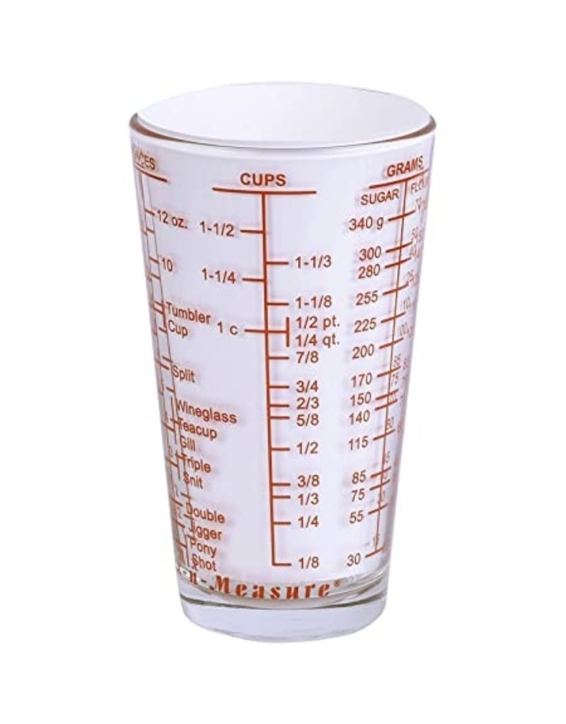 Harold Imports Kolder Glass Mix-in-Measure, 2 Cup