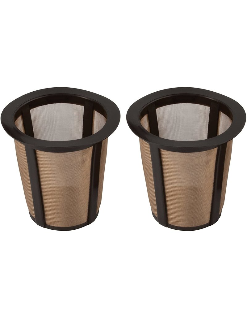 Harold Imports Gold Mesh Permanent Coffee K-Cup Filters, set of 2