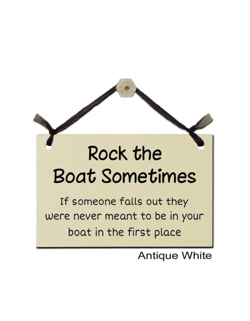 Sign Rock the Boat