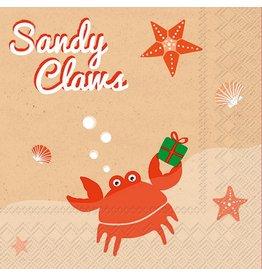 Boston International Holiday Cocktail Napkin, Sandy Claws
