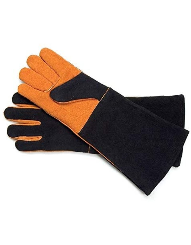 Charcoal Companion/Union Extra Long Suede Grill Mitt Gloves, Steve Raichlin, Set of 2  ciw