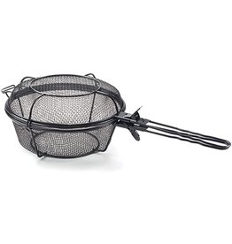 Foxrun Outset Chef's Jumbo Outdoor Grill Basket with Removable Handles