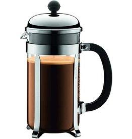 Bodum Chambord French Press Glass Coffee Maker, 34oz, Chrome cir