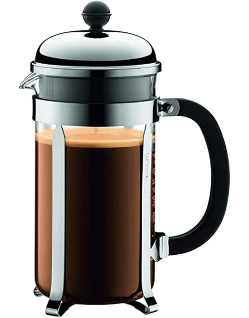 Chambord French Press Glass Coffee Maker, 34oz, Chrome cir