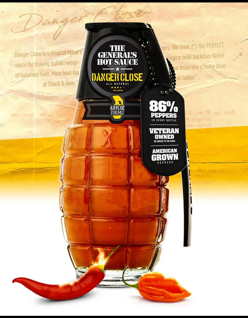 General's Hot Sauce, Danger Close 6oz; Heat 4.5/5