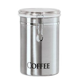 Oggi STAINLESS COFFEE CANISTER, 62OZ
