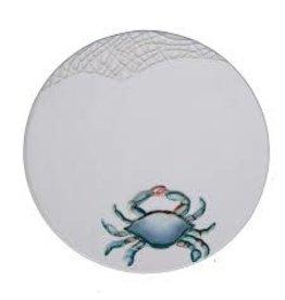 Blue Crab Round Trivet