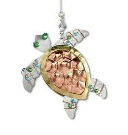 Pilgrim Imports Ornament, Sea Turtle, Nickel-Copper-Brass