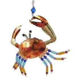 Pilgrim Imports Ornament, Colorful Crab, Nickel-Copper-Brass