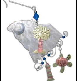 Pilgrim Imports Ornament, South Carolina, Nickel-Copper-Brass