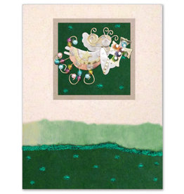 Greeting Card-Mailable Art, Holiday Cross Angel