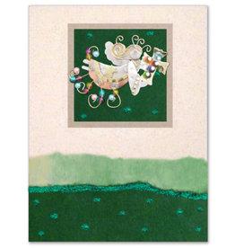 Pilgrim Imports Greeting Card-Mailable Art, Holiday Cross Angel