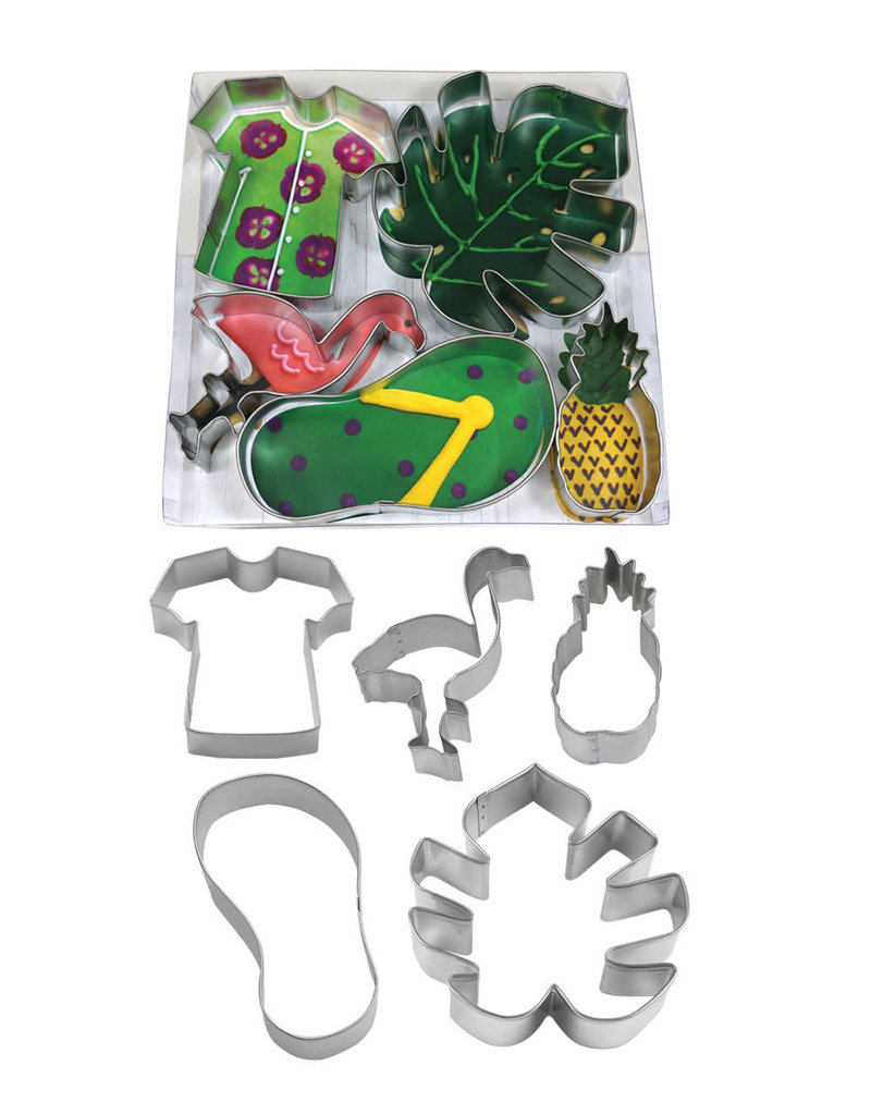 Tropical Cookie Cutters, 5pc BOX Set, rm