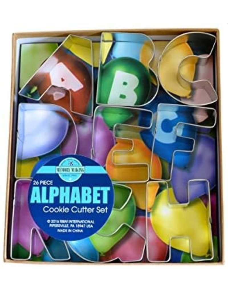 Alphabet Cookie Cutters, 26pc Set