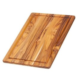 TeakHaus Essential Cutting Board with Juice Canal, Teakwood,16x11 Rectangular