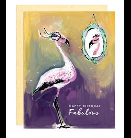 Greeting Card - Birthday, Fabulous Flamingo