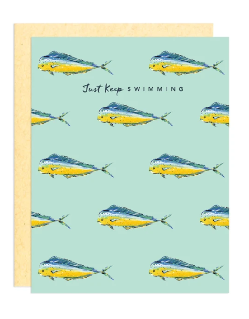 Greeting Card - Encouragement, Keep Swimming Fish