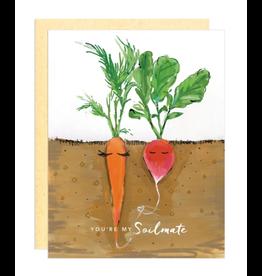 Darling Lemon Greeting Card - Love, Soilmate Carrot and Radish