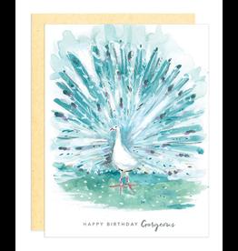 Darling Lemon Greeting Card - Birthday, Gorgeous Peacock