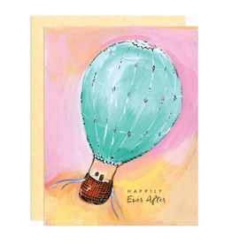 Darling Lemon Greeting Card - Wedding, Happily Ever After Balloon