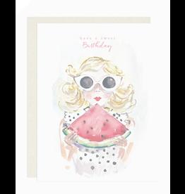 Darling Lemon Greeting Card - Birthday, Sweet Watermelon