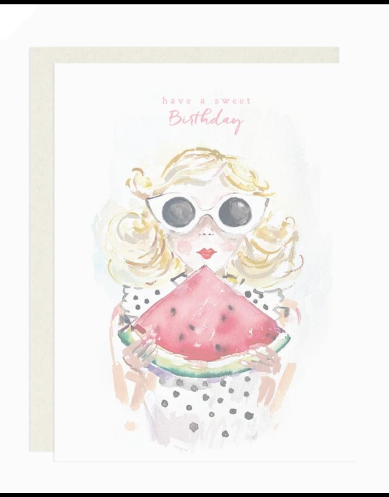 Greeting Card - Birthday, Sweet Watermelon