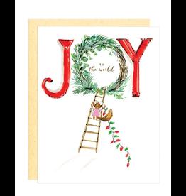 Darling Lemon Greeting Card - Holiday, Joy to the World