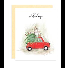 Darling Lemon Greeting Card - Holiday, Red Truck