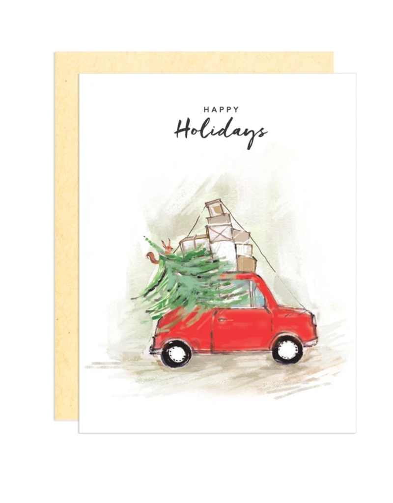 Greeting Card - Holiday, Red Truck