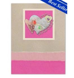 Pilgrim Imports Greeting Card-Mailable Art, Love/Friendship, Hearts