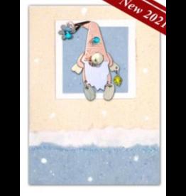 Pilgrim Imports Greeting Card-Mailable Art, Holiday Snowflake Gnome