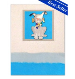 Greeting Card-Mailable Art, Friendship, Ralph Dog