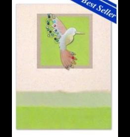 Greeting Card-Mailable Art, Friendship, Hummingbird