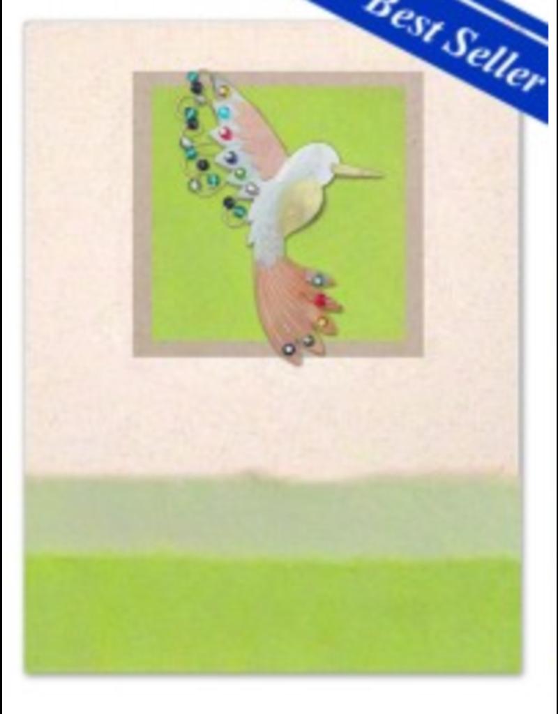 Pilgrim Imports Greeting Card-Mailable Art, Friendship, Hummingbird