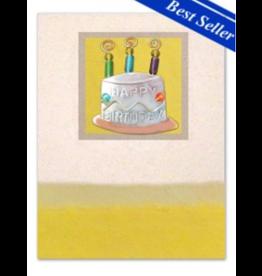 Pilgrim Imports Greeting Card-Mailable Art, Birthday, Cake