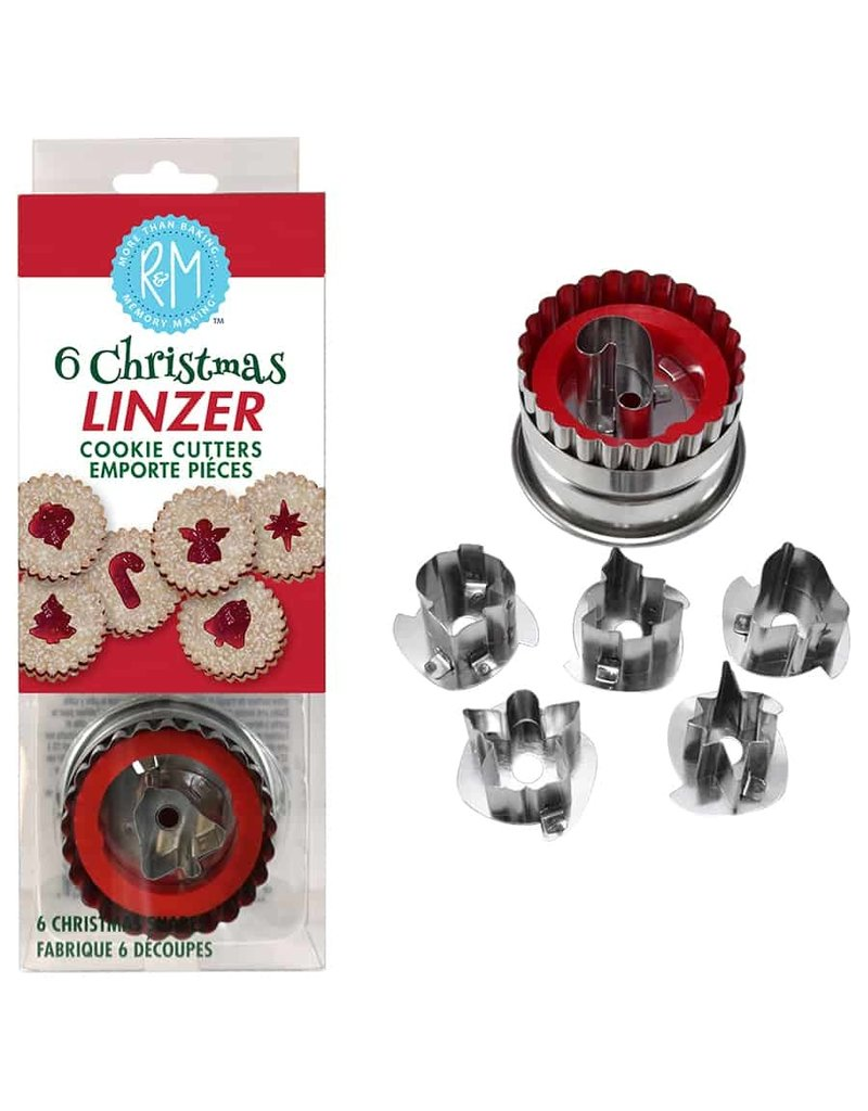Holiday Christmas Linzer Cookie Cutter Set, 6pc Set