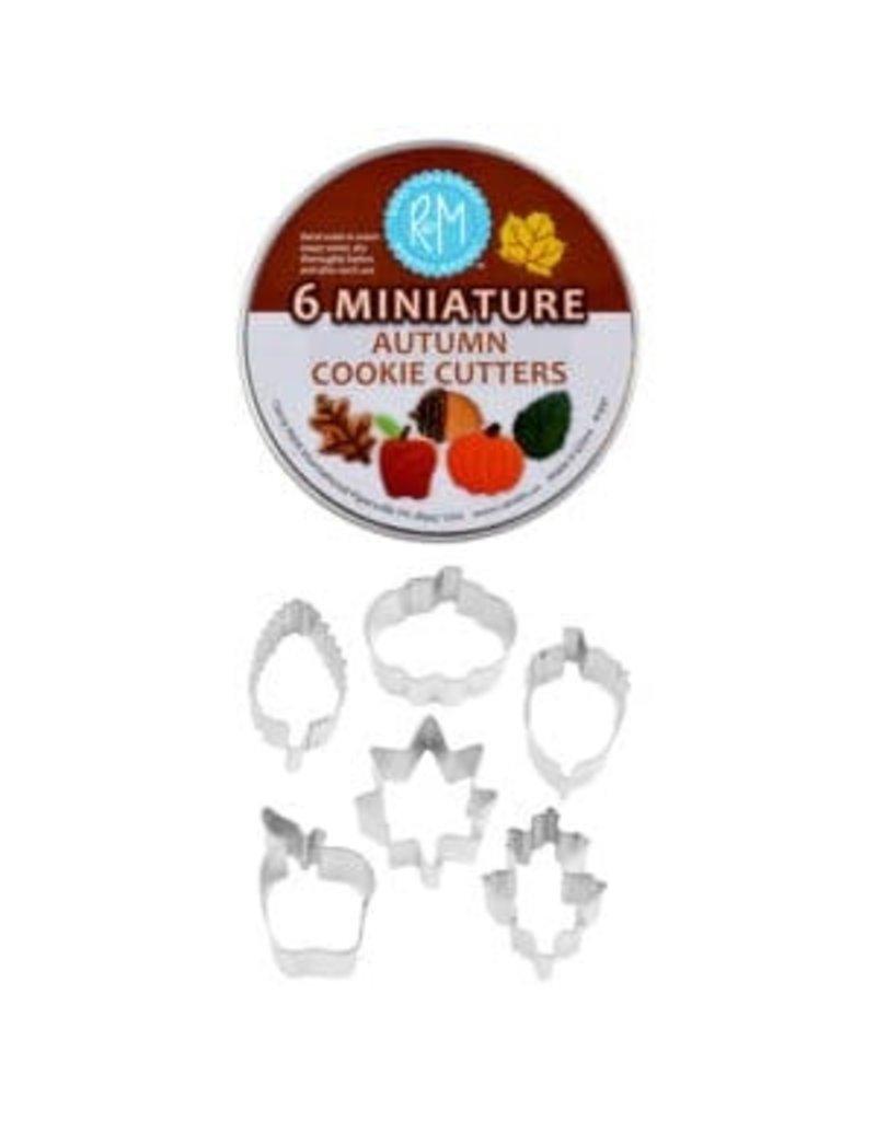 Fall MINI Leaf Cookie Cutters in Tin, 6pc Set, rm