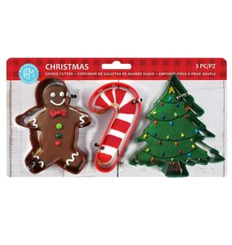 Holiday Cookie Cutters, 3pc Color Set, rm