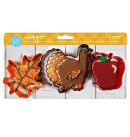 Fall Harvest Cookie Cutters, 3pc Color Set, rm