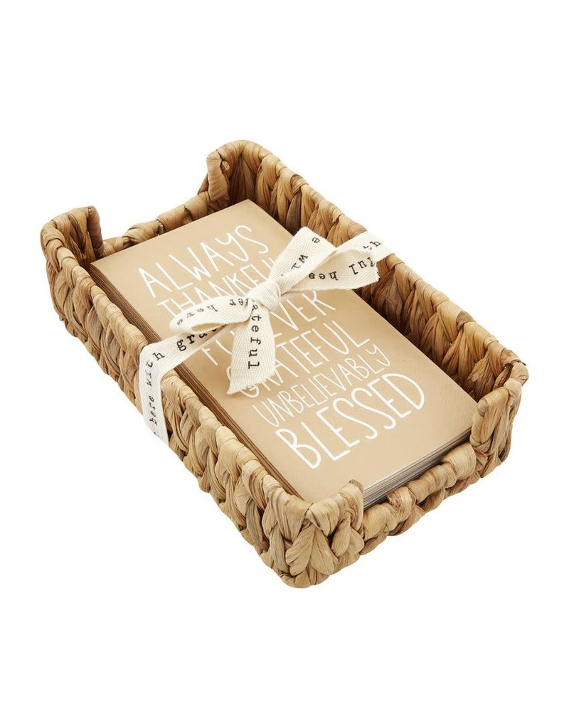 Mudpie Fall Blessed Guest Towel & Basket