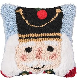 C and F Home Holiday Pillow Nutcracker, hooked 8x8