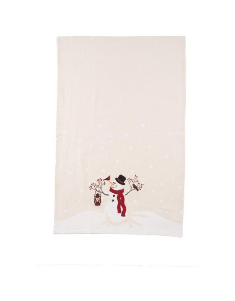 C and F Home Holiday Dish Towel Snowman Wonder