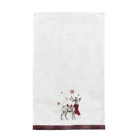 C and F Home Holiday Dish Towel Frosty Deer