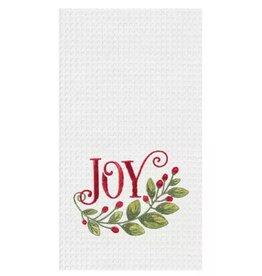 C and F Home Holiday Dish Towel Joy Garland, waffle weave
