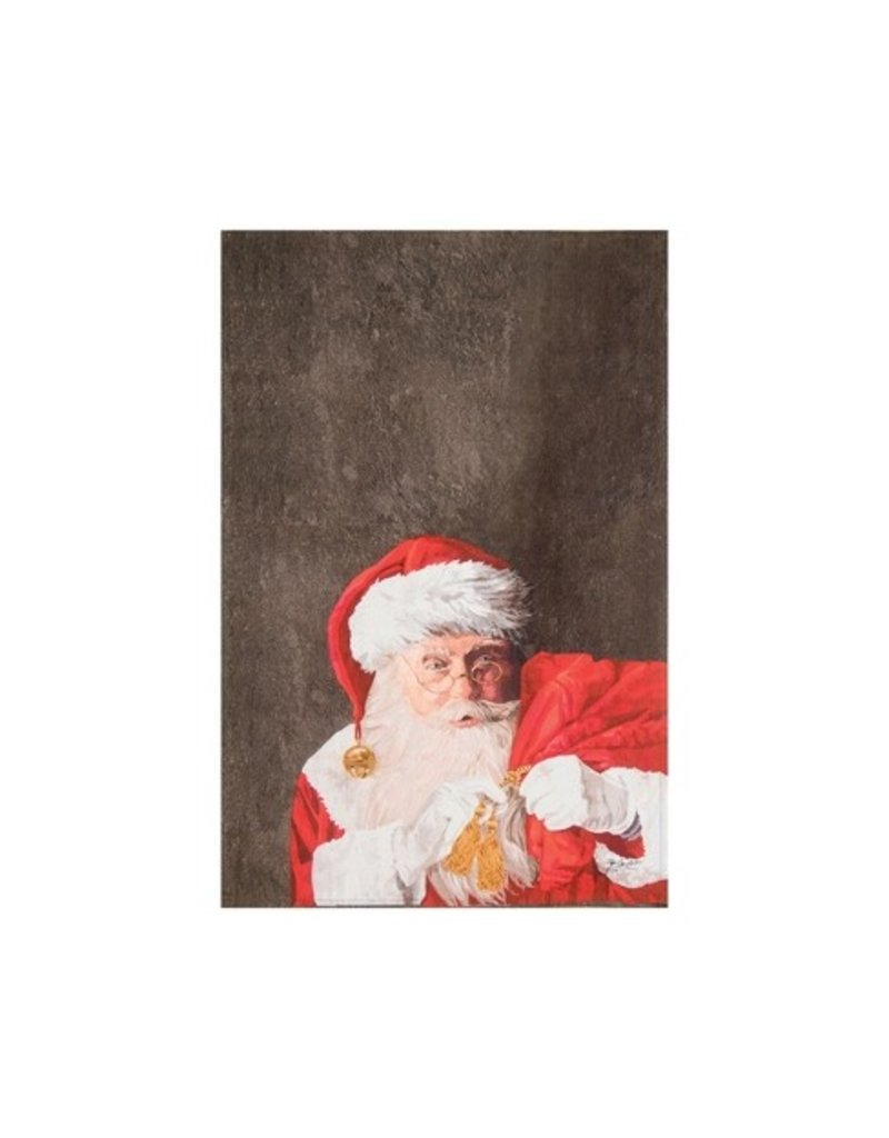 C and F Home Holiday Dish Towel Santa Claus and Toys