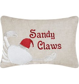 C and F Home Holiday Pillow Sandy Claws 8x12