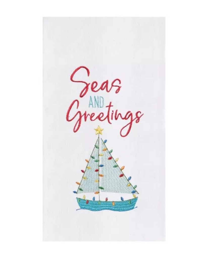 C and F Home Holiday Dish Towel Seas and Greetings